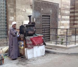 Sweet potato seller