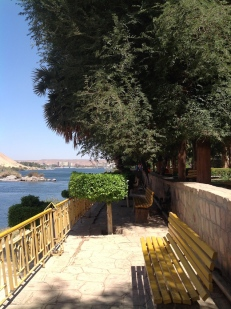 Seats are well positioned for views across the Nile