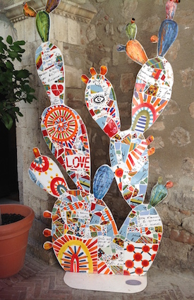 ...and even as an art installation. Taormina, Sicily.